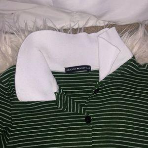 green striped button down brandy melville dress